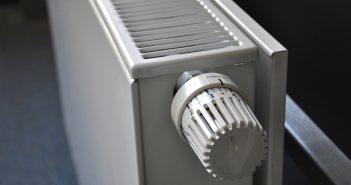 zoom sur un radiateur blanc