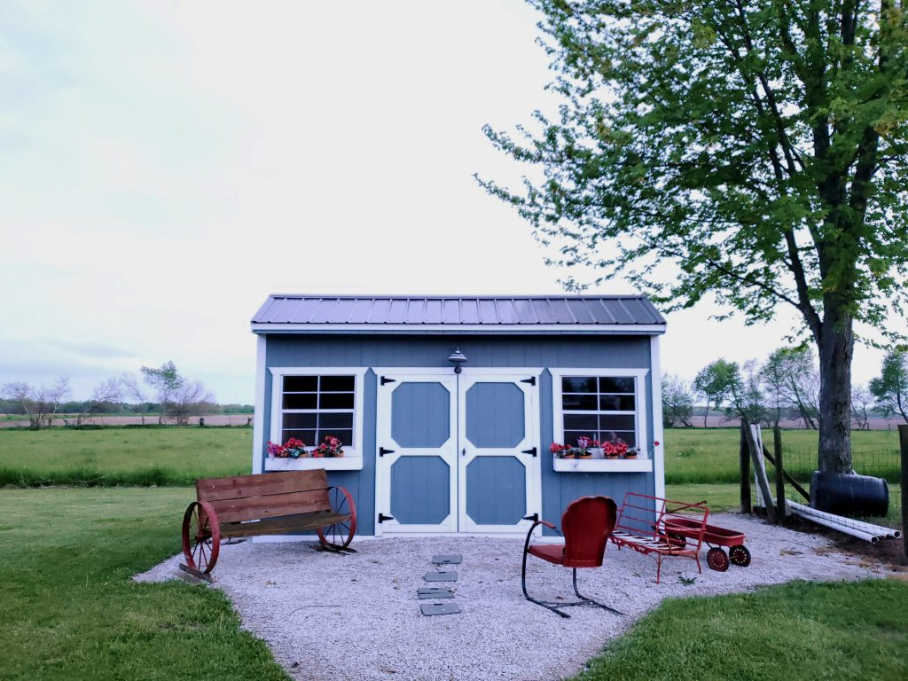 Un abri de jardin aménagé